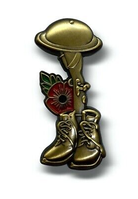£3.99 • Buy Poppy Lapel Metal Badge Soldier Ranger British Military Day Army