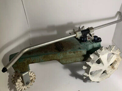 AU128.20 • Buy Vintage Sears Craftsman Cast Iron Traveling Lawn Sprinkler Green Tractor