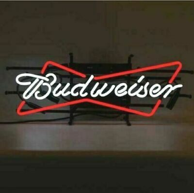 $ CDN97.61 • Buy New Budweiser Bow Tie Bowtie 14  Neon Light Sign Glass Decor Gift Lamp Bar
