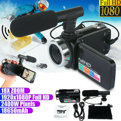 £34.99 • Buy Digital Camera 1080P Video 18X ZOOM 24MP DV Camcorder Recorder With Microphone