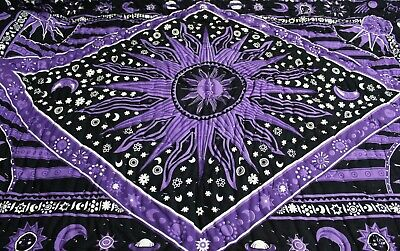 Indian 100% Cotton Twin Size Reversible Winter Quilt Throw Mandala Ombre Blanket • 39.99£