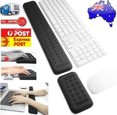 AU28.99 • Buy Keyboard And Mouse Wrist Rest Pad Set Memory Foam Ergonomic Hand Palm Support