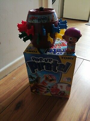 £9.99 • Buy TOMY Pop Up Pirate Family Fun Game - 100% Complete  FREEPOST LOVELY CONDITION