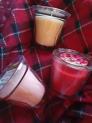 IKEA Valdoft 3 Glass Scented Candles White Pink Red. Coloured Tealights 75 Hours • 6.99£