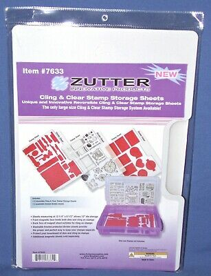 Zutter Cling & Clear Stamp Storage Sheets #7633 Size 12-1/4 X8-1/2  NEW 3 Pack • 21.71£