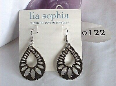 $ CDN11.46 • Buy Beautiful Lia Sophia  SHADOW  Open Cut Tear Drop Dangle Earrings, NWT