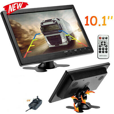 10.1'' HD Car Monitor Mini TV Color Screen 2 Channel Video Input VGA AV HDMI BNC • 52.99£