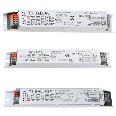 £5.33 • Buy T8 AC 220-240V 2x30W Wide Voltage Electronic Ballast Fluorescent Lamp Ballasts