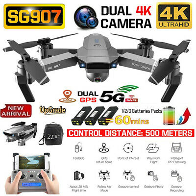 AU175.99 • Buy RC Drones X Pro With HD 4K 1080P Camera GPS Follow Me Wifi FPV Quadcopter Drone