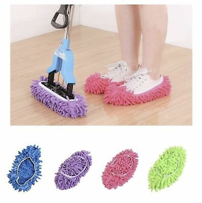 2X Dust Mop Slippers Lazy Floor Polishing Cleaning Socks Shoes Mop Novelty Gifts • 5.99£