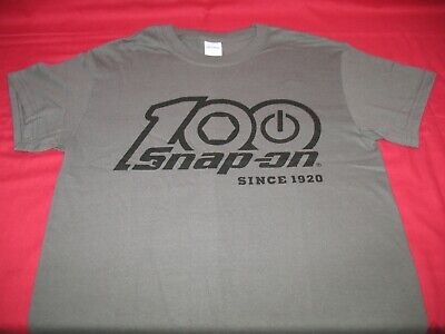 Snap-On Tools Mens 100/% Cotton Dark Grey T-Shirt 1920 Large 40in Chest New
