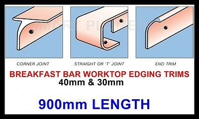 Kitchen Worktop Breakfast Bar Edging Joining Strips Trims 900mm *FREE DELIVERY* • 13.95£