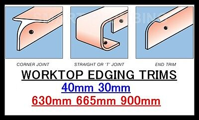 Kitchen Worktop Breakfast Bar Edging Joining Strips 900mm 665mm 630mm *BULLNOSE* • 6.99£