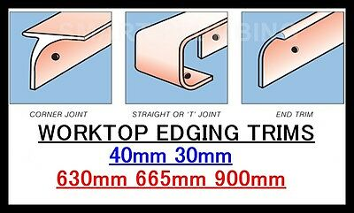 Kitchen Worktop Breakfast Bar Edging Joining Strips 900mm 665mm 630mm *BULLNOSE* • 5.99£