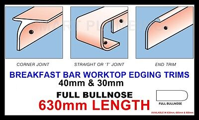 Kitchen Worktop Breakfast Bar Edging Joining Strips Trims 630mm *BULLNOSE STYLE* • 6.15£