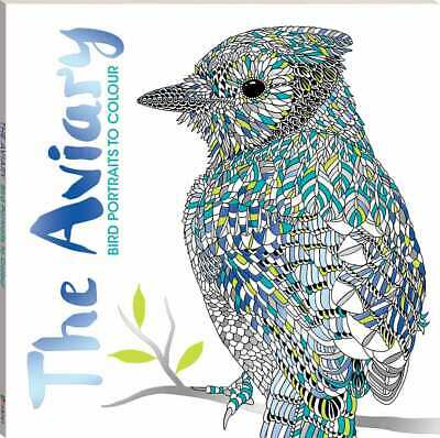 £10.56 • Buy NEW The Aviary Bird Portraits To Colour Adult Colouring Book Relaxing Meditation