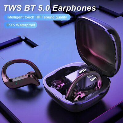 AU30.99 • Buy Sweatproof Wireless Bluetooth Earphones Headphones Sport Gym Earbuds With Mic AU