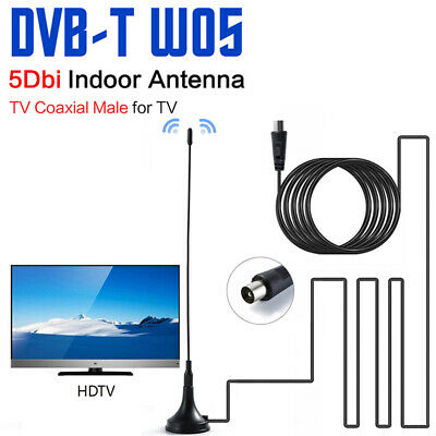 Indoor Gain Booster Digital DVB-T/FM Freeview Aerial Antenna PC For TV HDTV 5dBi • 2.52£