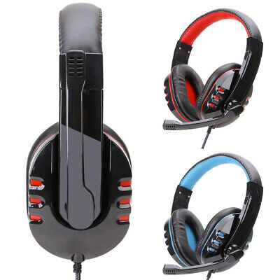 $ CDN17.34 • Buy Wired Gaming Headset Headphones With Microphone MIC For PS4 PC Laptop Mac Phone