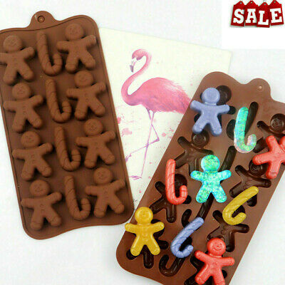 Silicone Christmas Gingerbread Man Silicone Fondant Mould Chocolate Cookies D1UK • 3.15£