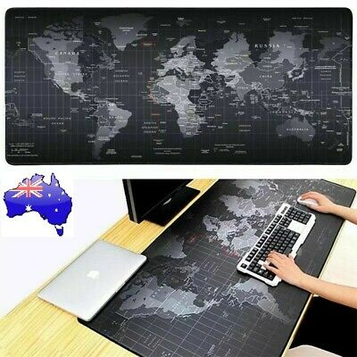 AU18.42 • Buy Extended Gaming Mouse Pad World Map Anti-slip Desk Computer Keyboard Mat 90x30cm