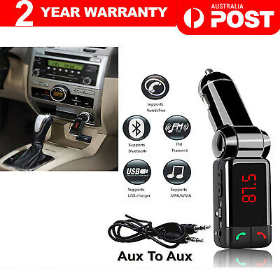 AU16.70 • Buy Wireless Bluetooth Car Kit FM Transmitter Handsfree Car Charger MP3 Player USB
