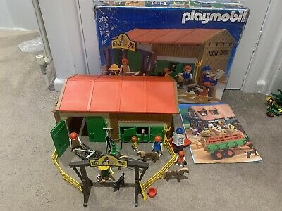 3436 Playmobil Vintage Horse Pony Farm Stables Boxed + Instructions  • 30£