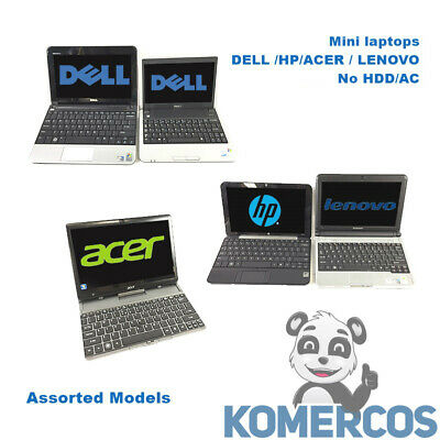 $ CDN381.48 • Buy Lot Of 5 - Mini Laptops  Assorted Models-DELL /HP/ACER / LENOVO,10.1  No HDD/AC