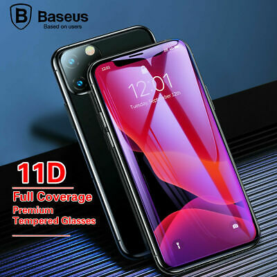 AU7.95 • Buy Baseus 11D Full Curved Tempered Glass Protector For IPhone12 Max 6/7/8 Xs /11Pro