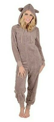 Autumn Faith Ladies Fleece All In One Piece Pyjamas Jump Sleep Suit Size 6-8 XS • 29.99£