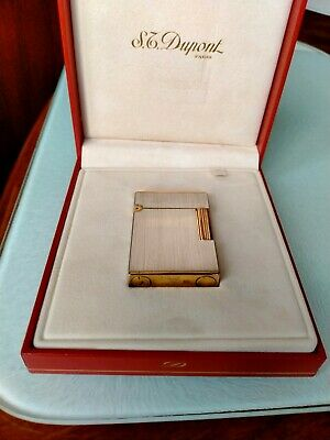 £495 • Buy S T Dupont Model Number 15401 Silver Plated With Gold Plated Roller Very Rare