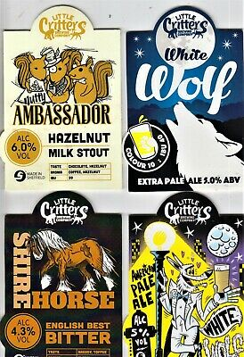 Four Little Critters Brewery Real Ale Beer Pump Clips  • 0.99£