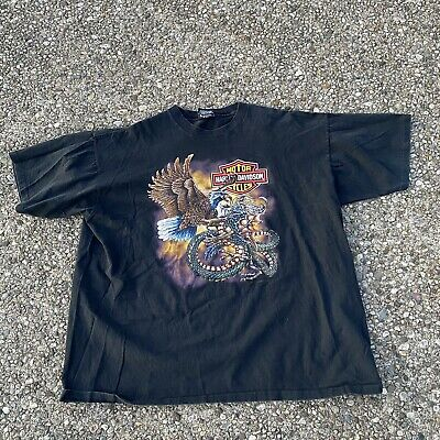 $ CDN52.25 • Buy Vintage Harley Davidson T Shirt Made Usa 1988 Sz 2xl Double Sided Holoubek GUC