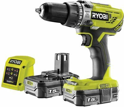 £99.59 • Buy Ryobi  R18PD3-215GZ 18V Cordless Percussion Drill With 2x1.5Ah Batteries