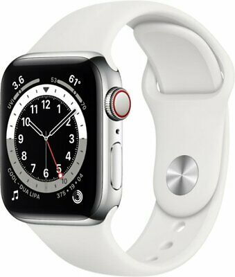 $ CDN771.31 • Buy Apple Watch Series 6 40mm Silver Stainless Steel White Sport Cellular M02U3LL