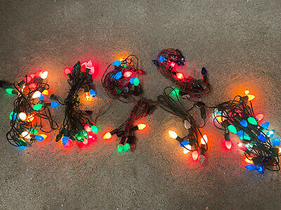$ CDN53.99 • Buy Vintage Lot  Christmas Lights C-7 Red Green Wires Tested