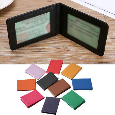 £2.69 • Buy PU Leather Driving License Holder Case Document Solid Color Business Card Holder