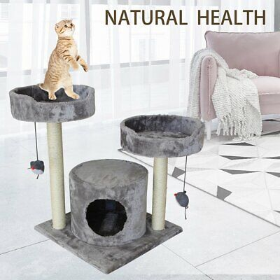 AU40.90 • Buy 107CM Cat Tree Trees Scratching Post Scratcher House Furniture Wood Tower Condo
