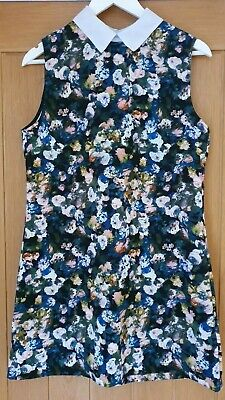 £4.99 • Buy Hearts And Bows Pencil/Tunic Style Floral Collard Dress Size 14 New Without Tags