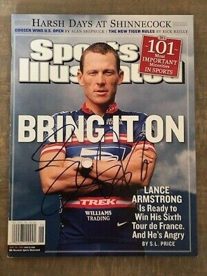Lance Armstrong No Label Sports Illustrated Signed Autographed BAS LOA • 126.63£