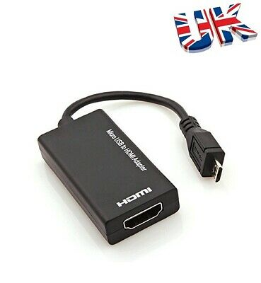 $ CDN8.80 • Buy MHL Micro USB To HDMI TV Adapter Cable For Samsung Android Smart Phone 1080P HD