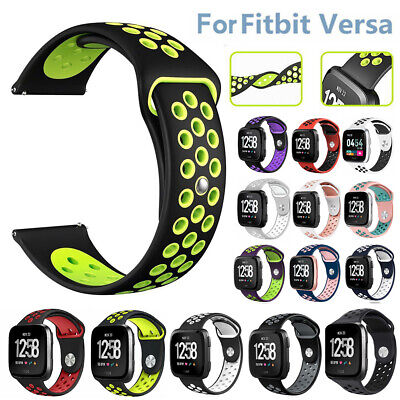 $ CDN8.59 • Buy Soft Silicone Sport Strap Small Large Breathable Band For Fitbit Versa Watch US