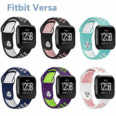 $ CDN6.26 • Buy Sport Watch Band Large Soft Silicone Breathable Strap For Women Men Fitbit Versa