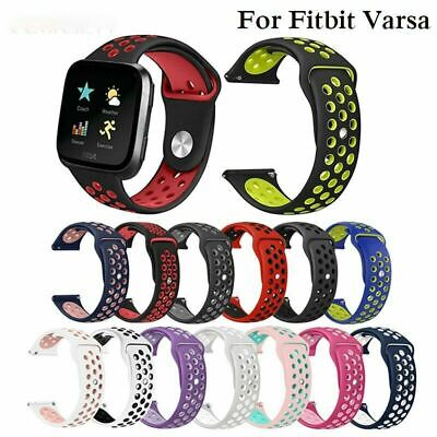 $ CDN8.59 • Buy Soft Silicone Sport Strap Women Small Men Large Breathable Band For Fitbit Versa