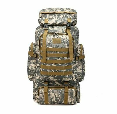 AU37.95 • Buy 80L Large Tactical Military Style Backpack Bag Camping Hiking Camoflauge Bag