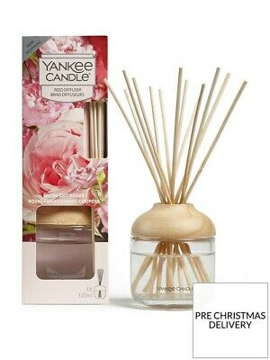 YANKEE CANDLE FRESH CUT ROSES REED DIFFUSER 120ML Home Fragrance GIFT XMAS • 16.49£