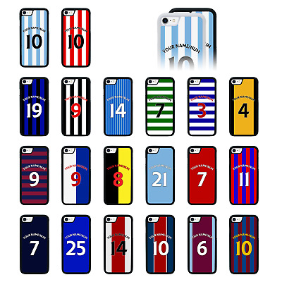 FOOTBALL STRIPS Personalised Bumper Case/Cover For IPhone 5 5s SE 6 6s 7 PLUS 8 • 5.99£