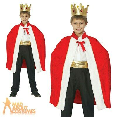 £9.79 • Buy Child Kings Robe Costume Royal Three Kings Christmas Nativity Fancy Dress Outfit