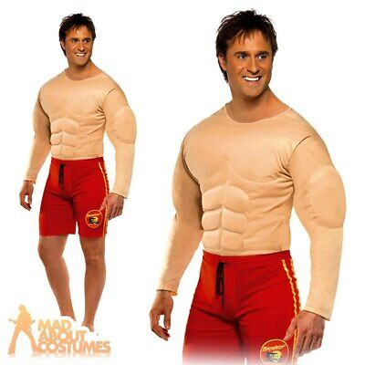 £26.99 • Buy Baywatch Lifeguard Costume Padded Muscle Chest Mens 90s Fancy Dress Outfit Stag