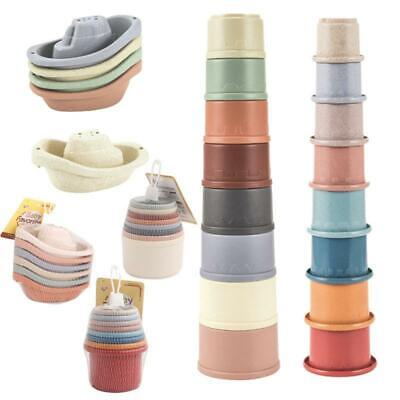 Kid Baby Toy Colorful Stacking Ring Tower Educational Toys Rainbow Stack Up Gift • 8.99£